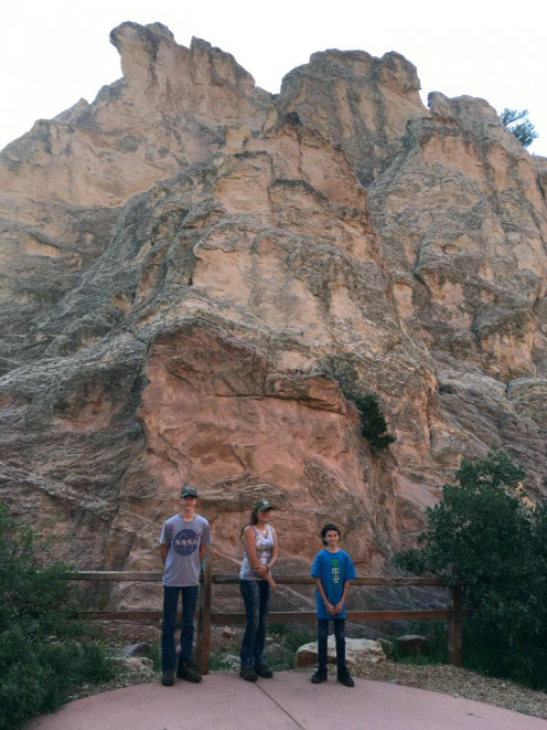 Traveling to places unlike your family's everyday scenes is enlivening and provides fodder for thought. Garden of the Gods near Colorado Springs is a favorite of ours, as we are all amateur geologists. The place is truly awe inspiring.