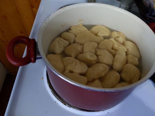 Boil in baking soda water.