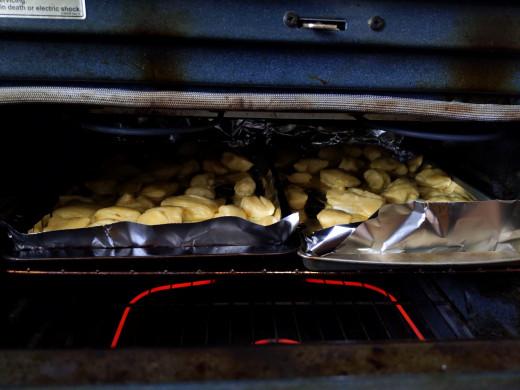 Bake 400 degrees for 18 minutes after egg coating. Until golden brown