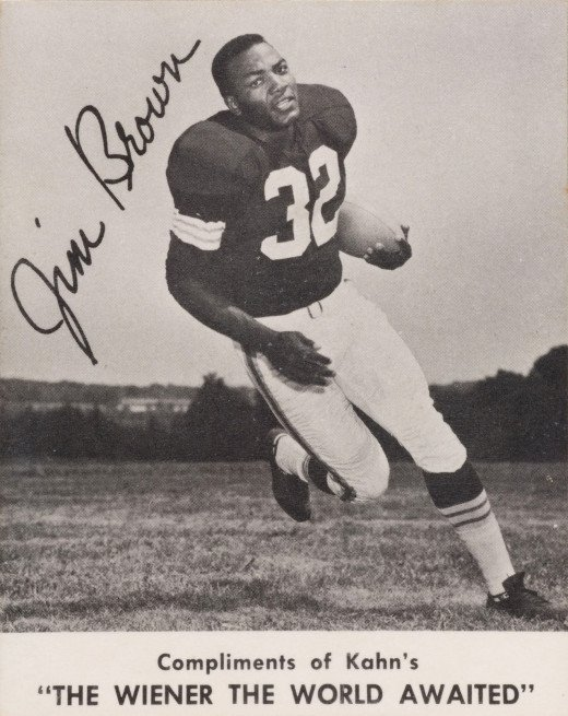 Jim Brown, the greatest running back in Cleveland Browns history.