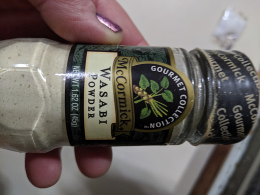 Wasabi powder that I have at home that could be turned into some sort of paste