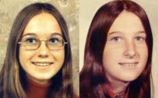 Cynthia (left), and Jackie (right) are two sisters who vanished from Mesa, Arizona, in 1974.