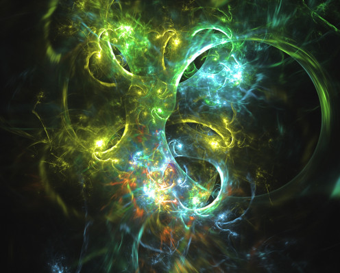 This image represents or shows an energy field that is chaotic and it symbolizes this album's title as well.