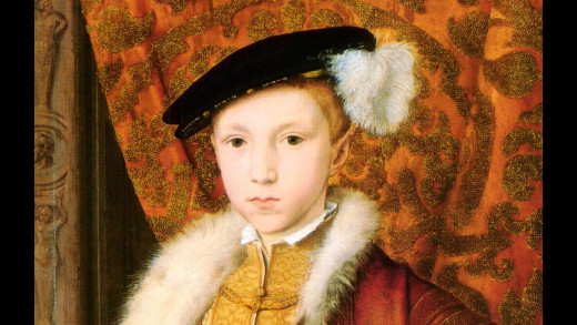 On Henry's death in 1547, his sickly son Edward - by his father's ill-fated third wife Jane Seymour, who died after giving birth in 1537 - came to the throne...