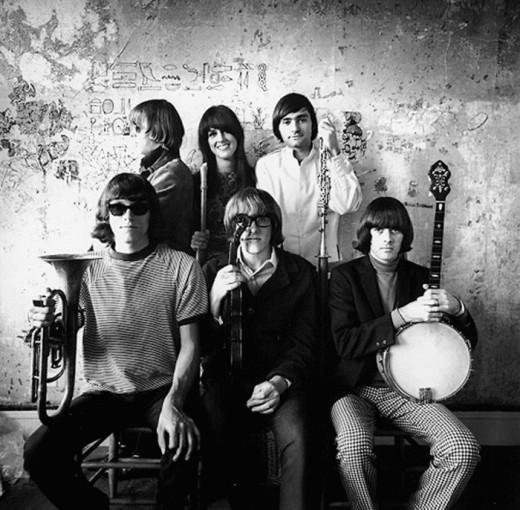 Original members of Jefferson Airplane.