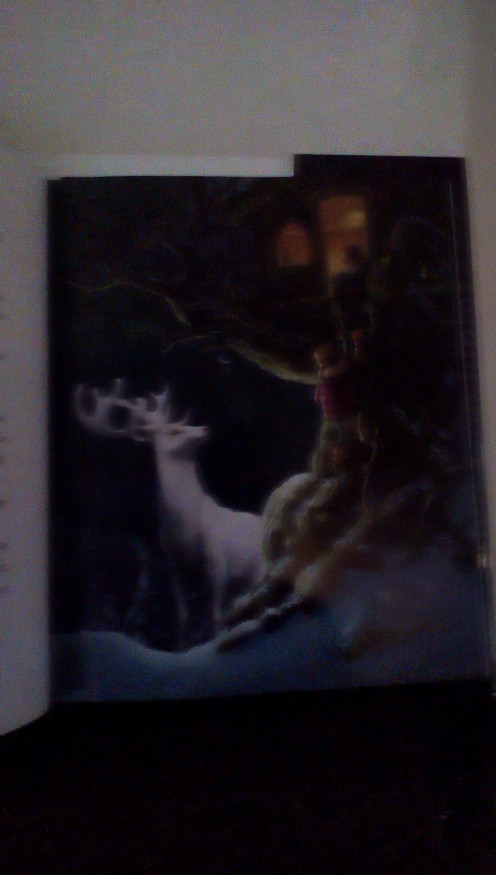 the beautiful white stag appears