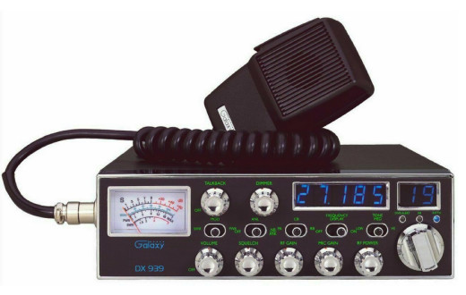 An example of a high power SSB CB radio tuned to the AM mode on the trucker's channel 19.