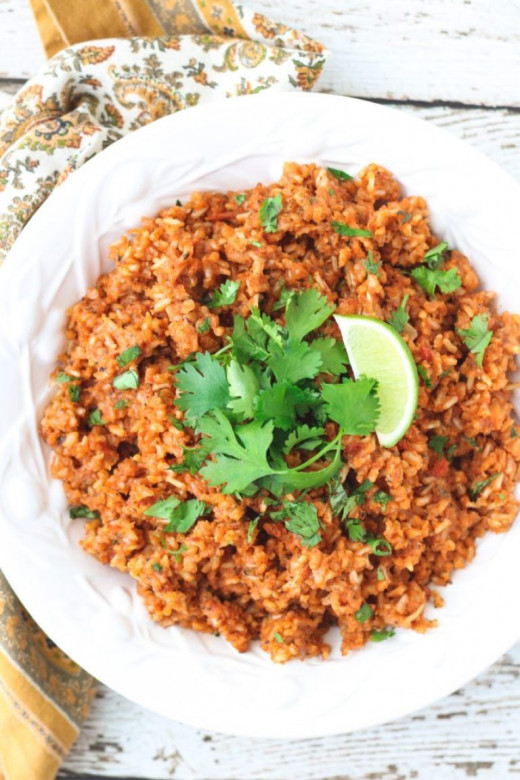 Healthy brown Mexican rice