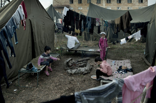 The unimaginable living conditions that refugees are subjected to