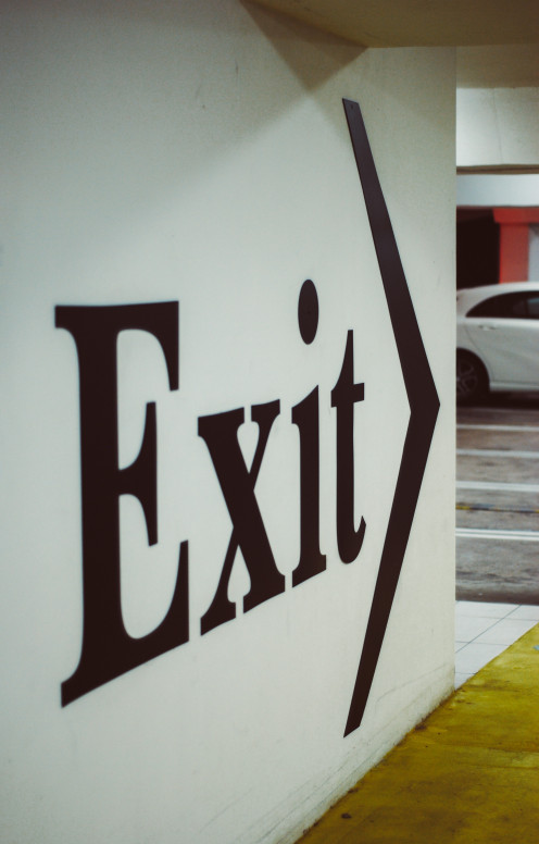 This exit sign symbolizes part of the album's title and it also marks the return of Marco Aro on lead vocals.