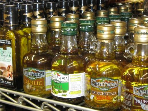 Garlic and Basil Oils