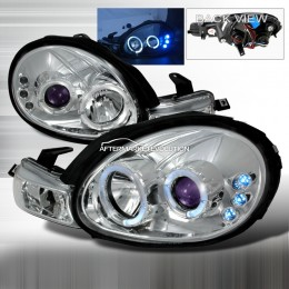Projector headlights w/ LED for Dodge Neon