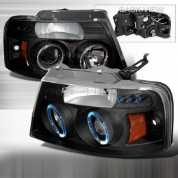 Projector headlights w/ LED and amber reflector for Ford F150