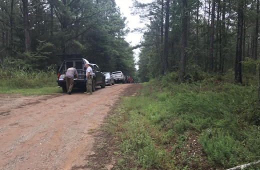 Deputies in Union County search for missing mother Jessica Ashmore in the area near Dawkins Road in Jonesville. Photo courtesy of Fox Carolina.