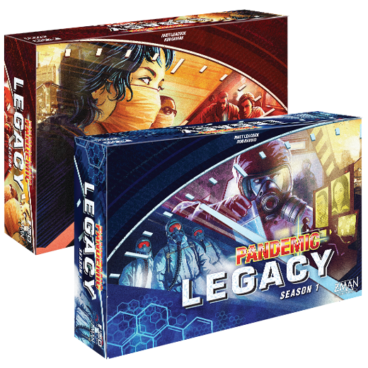 Pandemic Legacy Red and Blue versions