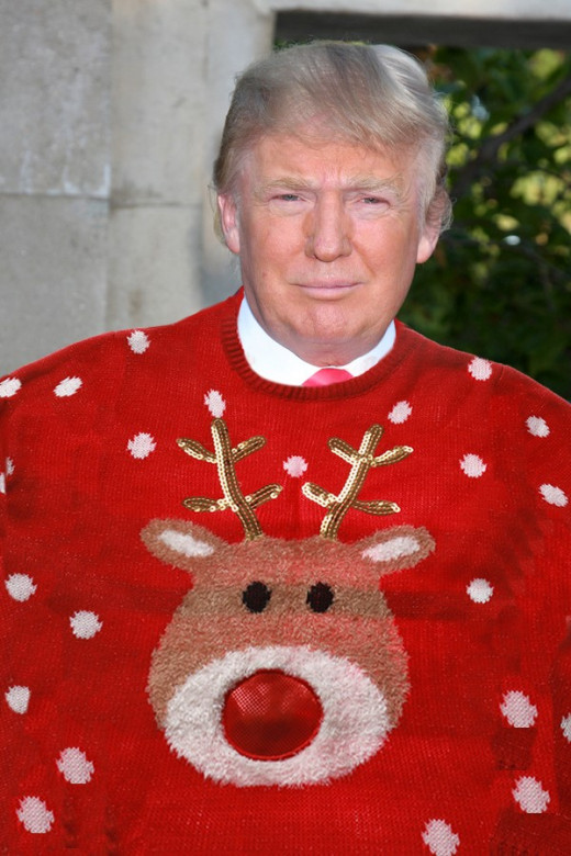 Trump In His New Christmas Sweater