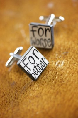 Cufflinks to Remember Your Wedding Vows!