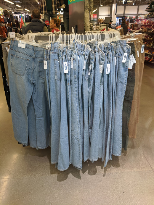 Today jeans are found in stores in cities and towns all over the world