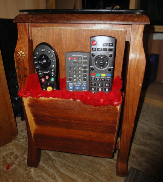 The original remote control holder; that only held three remotes.