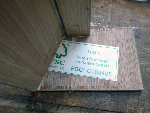 A reminder that under British Law, all wood sold in the UK has to be from Renewable Sources.
