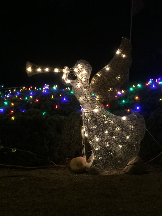 A Christmas Angel heralding the coming of Christmas
