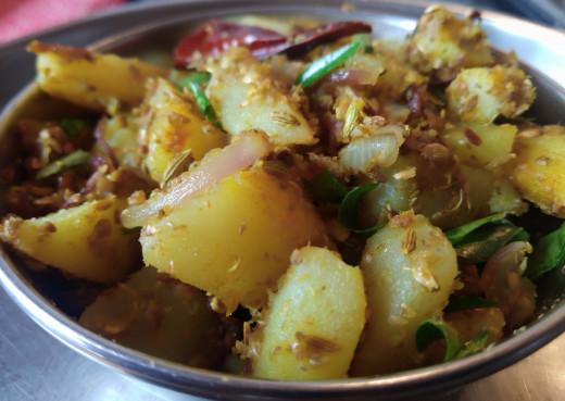 Serve hot with sambar-rice, rasam-rice or curd rice.
