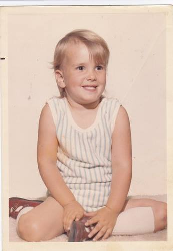 Our inner voice, whether critical or positive, develops very early in life. This is me at age three. While I don't remember being three, I am certain the inner voice was already highly developed.