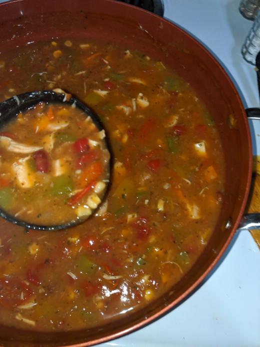 Ladle into bowl