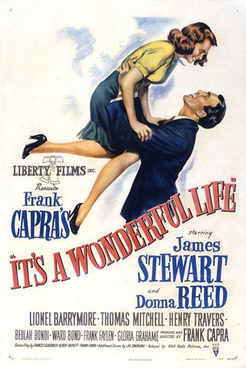 It's a Wonderful Life directed by Frank Capra and starring James Stewart, Donna Reed and Henry Travers