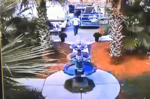 Video surveillance of the truck at the Moorer's residence on the day Heather Elvis went missing.
