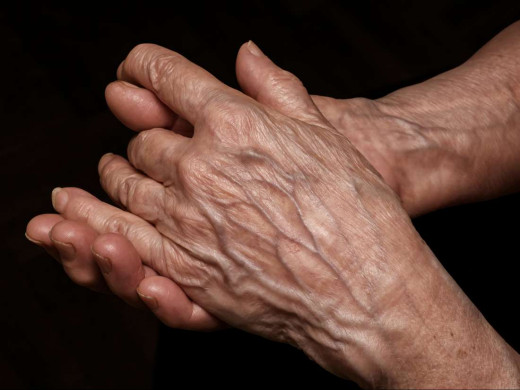 Old person's hand