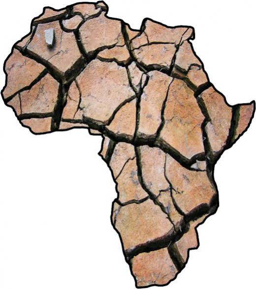 A depiction of how Africa is drying, economically, politically and environmentally.