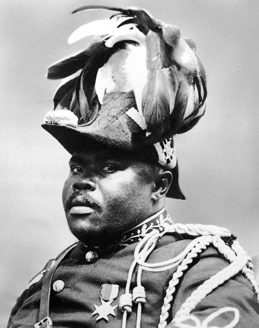 Marcus Garvey, a Jamaican immigrant to the US who might have been a huckster but also left behind an important legacy in terms of black political mobilization.