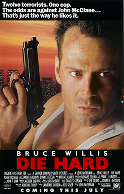 Die Hard movie poster.