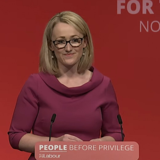 Rebecca Long-Bailey.  One of the possible candidates who could the fire of Corbyn's legacy burning.