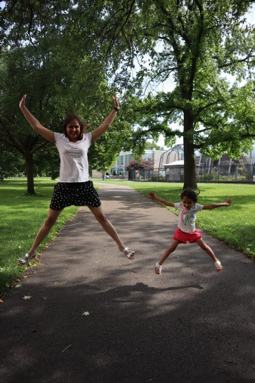 Yoga with your child can be healthy and fun too