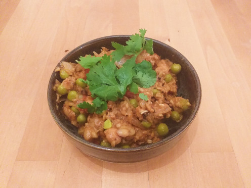 Vegetarian Scottish Haggis Keema Curry