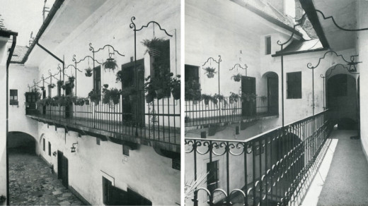 The open corridors on the inside in 1976.