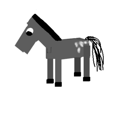 My rendition of the Minecraft Horse.  Looks more like Gumbi's horse to me but anyways...