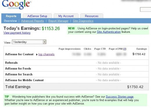 How Much Create Y'all Earn Per 24-Hour Interval Through Google Adsense Program?