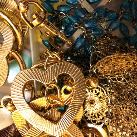 Vintage and contemporary jewelry