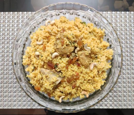 Homemade Kerala Style Chicken Biriyani