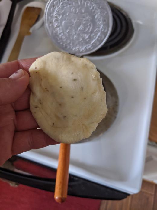 Flatten ball with fingers
