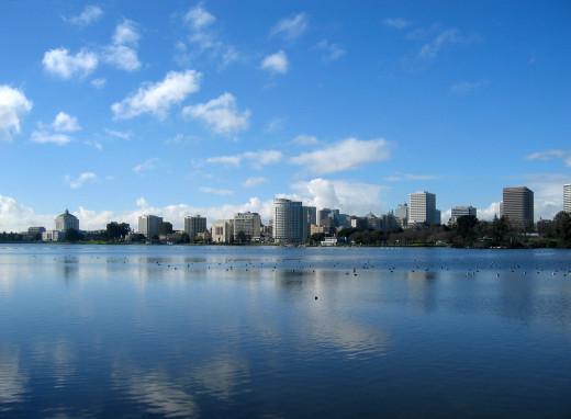 Lake Merritt, Oakland, California.
