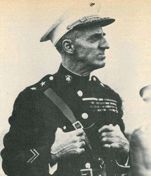Marine Corps General Double Medal of Honor Winner Smedley Butler, (1881 - 1940)