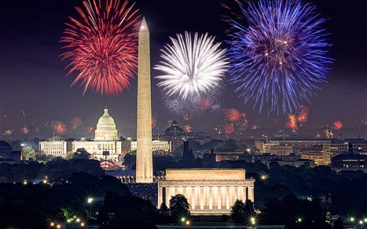 July 4th on the National Mall- a rousing patriotic and fireworks spectacular, but not the most musical of holidays