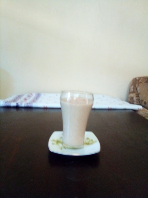 smoothie with wheat germ added