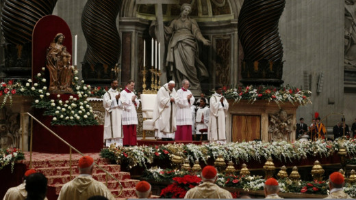 Midnight Mass on Christmas Eve from the Vatican--a sacred ritual