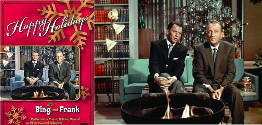 Bing Crosby and Frank Sinatra in a Christmas holiday TV special--the popularization of Christmas music