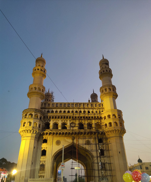 Charminar - the four pillars as a centre of attraction in Hyderabad